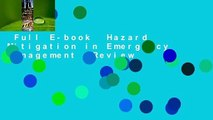 Full E-book  Hazard Mitigation in Emergency Management  Review