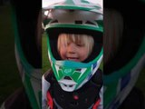 Little Kid Adorably Rides Small Bike In Garden