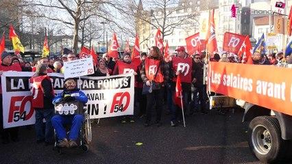 Grève du 5 décembre à Nancy : plus de 6000 manifestants contre la retraite à points