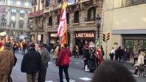Manifestación de Barcelona por el Día de la Constitución
