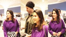 GORGEOUS Sunny Leone With Husband Daniel SPOTTED At Mumbai Airport