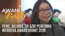 Feng, Juliana, Dr Azri penerima Merdeka Award Grant 2019