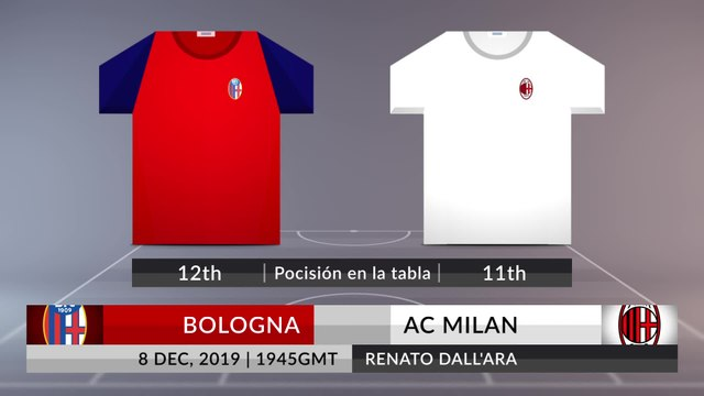 Match Preview: Bologna vs AC Milan on 08/12/2019