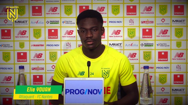 Elie Youan avant FC Nantes - Dijon FCO