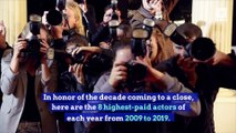 Highest-Paid Actors for Each Year of the Past Decade