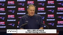Bill Belichick On Not Having A Kicker Two Days Before Patriots Vs. Chiefs Game