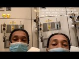 Tyga sports surgical face mask while revealing he's in hospital in Abu Dhabi
