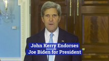 John Kerry Backs Joe Biden
