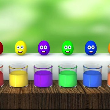 learn colors surprise eggs liquid for kids