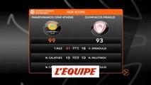 Le derby d'Athènes pour le Pana - Basket - Euroligue (H)