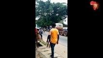 """Le convoi """"funèbre"""" du Mi-24 endommagé à Katiola bloque la circulation à Abidjan"""