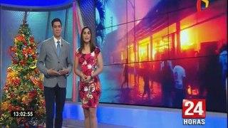 Iquitos: pérdidas millonarias por incendio en centro comercial