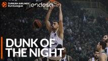 Endesa Dunk of the Night: Nikola Milutinov, Olympiacos Piraeus