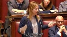 Mes, Giorgia Meloni contro Giuseppe Conte  Glielo ha consigliato Tafazzi?  Alla Camera, sì alla risoluzione