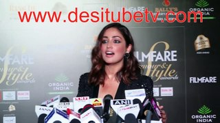 Yami Gautam in extremly sexy dress at a fashion do. Talks about movies, fashion, her like and dislikes