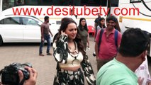 Dabangg 3 Salman Khan Sonakshi Sinha Warina Hussain spotted outside studio shooting for the movie