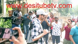 Hrithik Roshan the greek God spotted outside a resturant. Doesn't he have the looks to die for
