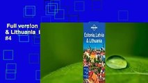 Full version  Lonely Planet Estonia, Latvia & Lithuania  Best Sellers Rank : #4