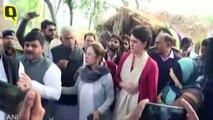 उन्नाव रेप पीड़िता के परिवार से मिलने पहुंचीं प्रियंका गांधी