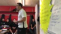Causerie d'avant match du Pontivyen Philippe Le Brun avant d'affronter le FC Lorient