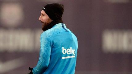 Quand Lionel Messi donne le tournis à ses coéquipiers à l'entraînement du Barça