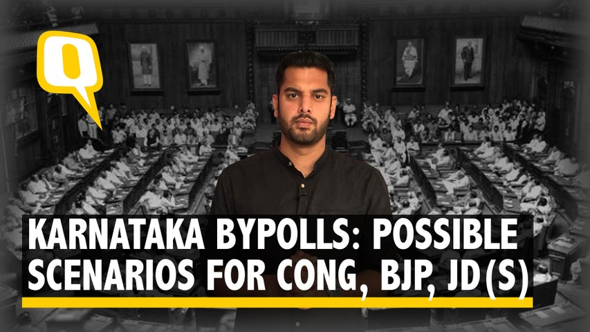 Karnataka Bypolls: 3 Possible Post-Poll Scenarios For Congress, BJP and JD(S) | The Quint