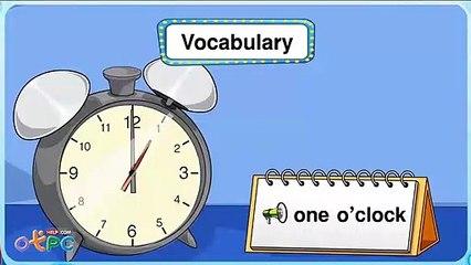 สื่อการเรียนการสอน คำศัพท์ภาษาอังกฤษ เวลา ป.2 ภาษาอังกฤษ