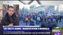 CGT/gilets jaunes: forte mobilisation à Marseille