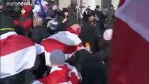 Cientos de manifestantes protestan en Bielorrusia contra una mayor integración con Rusia