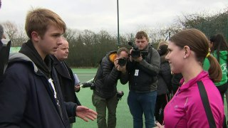 Jo Swinson plays tennis and pulls pint on campaign trail