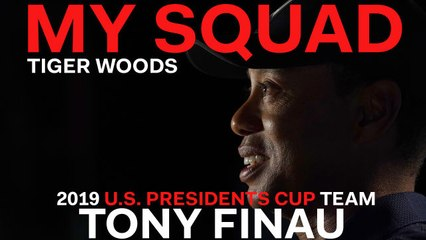 Captain Tiger Woods Dishes on 2019 U.S. Presidents Cup Team Player Tony Finau