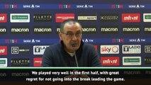 Losing key moments led to Juve defeat at Lazio - Sarri