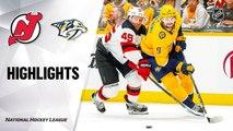 NHL Highlights | Devils @ Predators 12/07/19