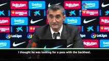 Valverde surprised by Suarez's stunning goal