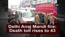 Delhi Anaj Mandi fire: Death toll rises to 43