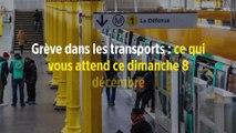 Grève dans les transports : ce qui vous attend ce dimanche 8 décembre