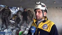 مجزرة في قرية بليون بريف إدلب بسبب القصف الروسي