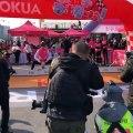 Cycling - Alberto Contador vs Andy Schleck... on children's bikes