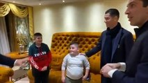 Ronaldo and Buffon meet with Alesio and Aurel. Both of them jumped from their apartments during the earthquake in Albania