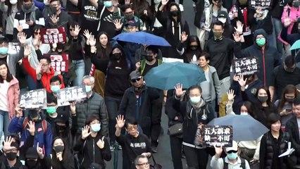 تجمعات حاشدة لمناسبة مرور ستة أشهر على بدء حركة الاحتجاج في هونغ كونغ