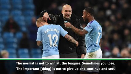 It's normal to not always win - Guardiola