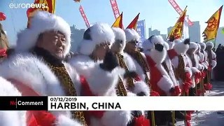 Ice-mining: Watch how Chinese city of Harbin gets its ice for sculptures