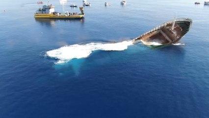 Cyprus sinks cargo ship to make artificial reef