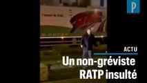 Des grévistes RATP insultent un de leur collègue qui travaille encore