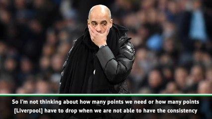 Guardiola not prioritising Champions League despite Liverpool gap