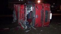 Hatay'da freni patlayan kamyonun sürücüsü yaralandı