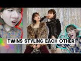 Twins Styling Each Other for Christmas Winter Outfits Challenge | CHARLES & KEITH x Q2HAN