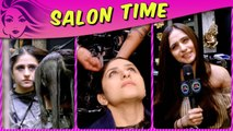Hunar Gandhi Beautiful MAKEOVER And Pamper Session In Salon Time