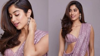 Janhvi Kapoor's Sequin Saree Look Is Gorgeous To The Core