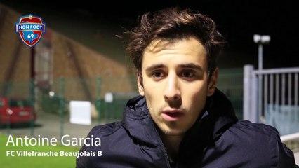 """Antoine Garcia (FC Villefranche Beaujolais B) : """"Bien pour nous d'être revenu au score"""""""